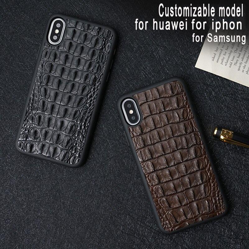 Étui en cuir véritable crocodile naturel pour huawei huawei p20 lite étui pour huawei p20 pro en cuir de haute qualité