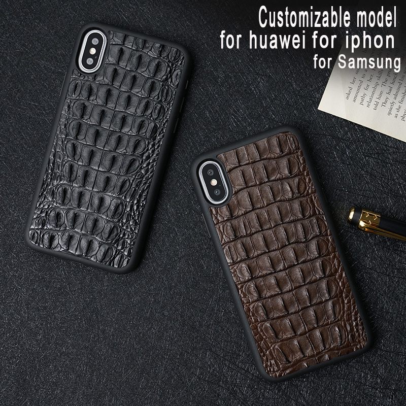 natural crocodile Genuine Leather for huawei p20 lite case High-grade leather HUAWEI pro