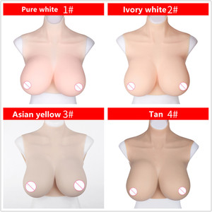 Image 2 - A H Cup Artificial Silicone Breast Form False Fake Boobs For Crossdresser Transgender Shemale Drag Queen Enhancer Fashion Gift