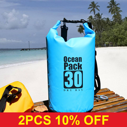 PVC 5L 10L 20L Outdoor Diving Compression Storage Waterproof Bag Dry Bag For Man Women Swimming Rafting Kayak