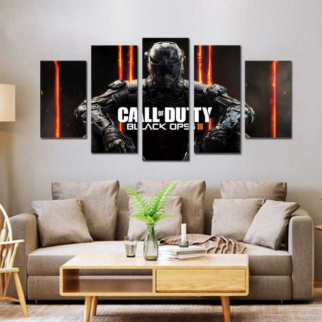 Unframed Canvas Painting Call Duty Black Ops 3 Game Poster Modular Picture Prints Pictures For Living Room Wall Art Decoration 3