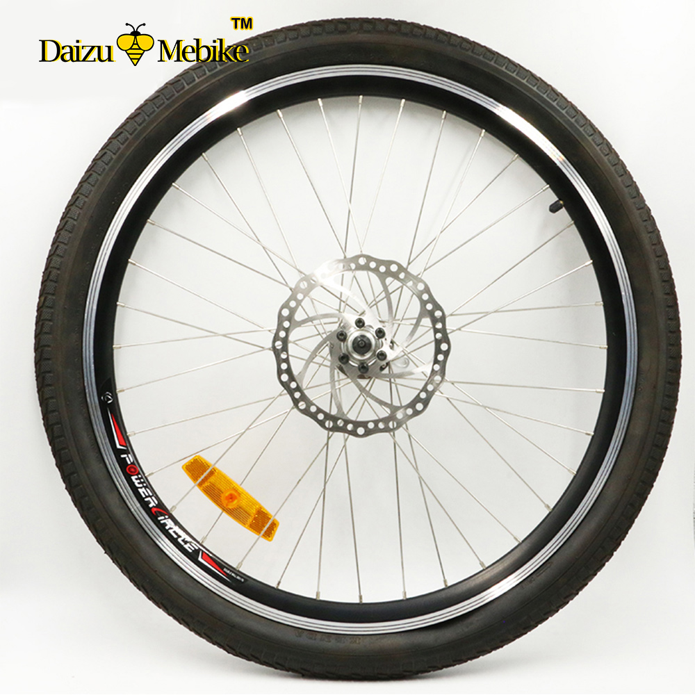 26 Bike Wheel with tire and tube for MTB Mountain Bike Road Bike Bicycle Quick release Hub Spoke Reflector купить