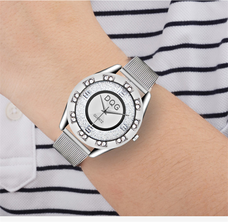 Reloj Mujer Ny Lyx Märke Mode Silver Mesh Bälte Klockor Klockor - Damklockor - Foto 3