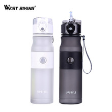 ФОТО  west biking bicycle water bottle 620 ml straw stainless steel outdoor sports drink  water kettle ciclismo cycling water bottle