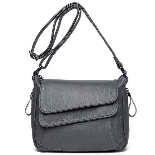 Women Leather High Quality Simple Handbag Red Shoulder Bag Sac A Main Femme Luxury Designer Lady Messenger Bags Drop Shipping