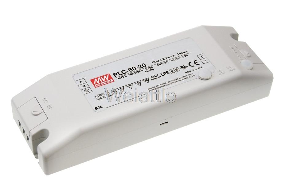MEAN WELL original PLC-60-12 12V 5A meanwell PLC-60 12V 60W Single Output LED Power SupplyMEAN WELL original PLC-60-12 12V 5A meanwell PLC-60 12V 60W Single Output LED Power Supply