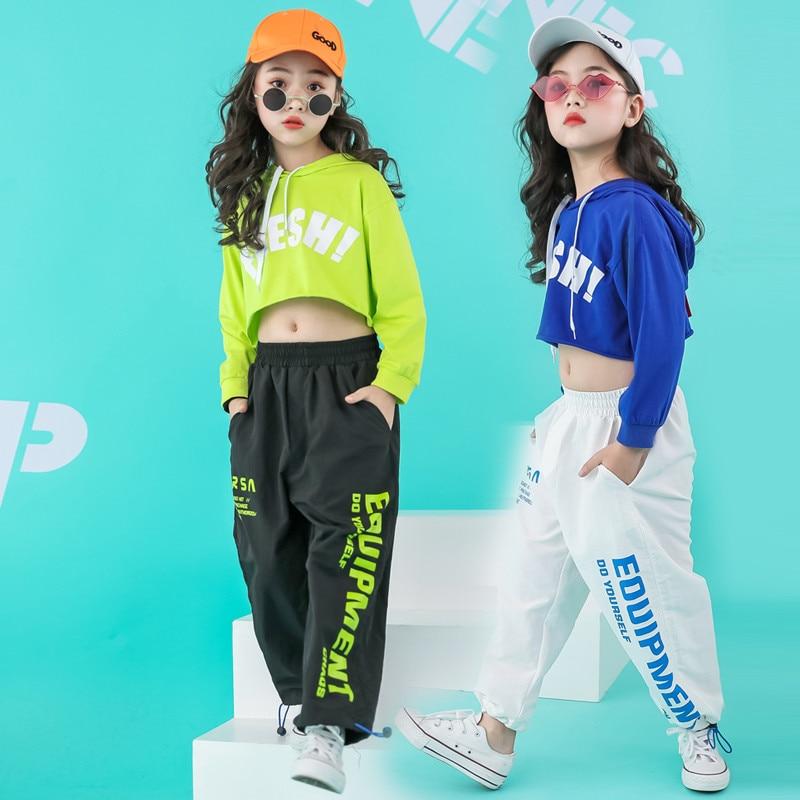 Newborn girls clothes  sets hip hop hoodie kids  dance costumes jazz summer baby girls clothing set childrens clothing 160 140Clothing Sets   -
