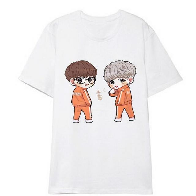CUTE BTS MEMBER CARTOON T-SHIRT (22 VARIAN)