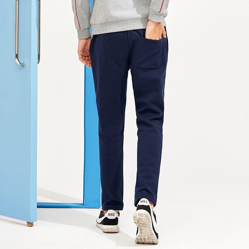 dcfb7c34a0a489 R$ 93.43 49% de desconto|Acampamento pioneiro Nova engrossar calça casual  homens marca roupas de inverno sólida lã quente calças masculino ...