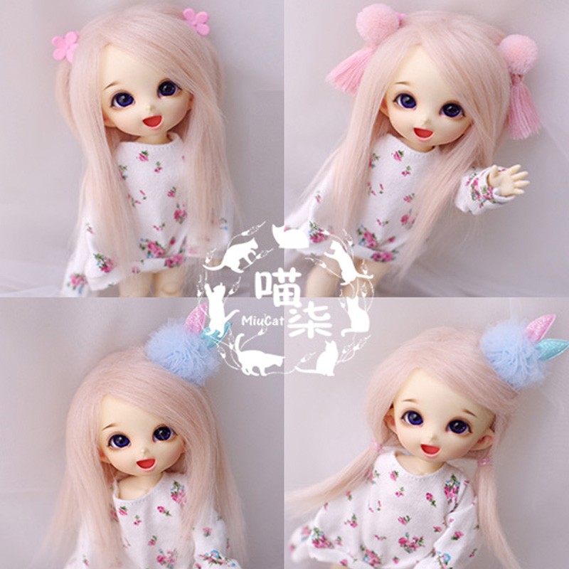 1PCSBJD <font><b>Doll</b></font> Accessories 6Colors <font><b>BJD</b></font> <font><b>Wig</b></font> <font><b>1/8</b></font> 1/12 image