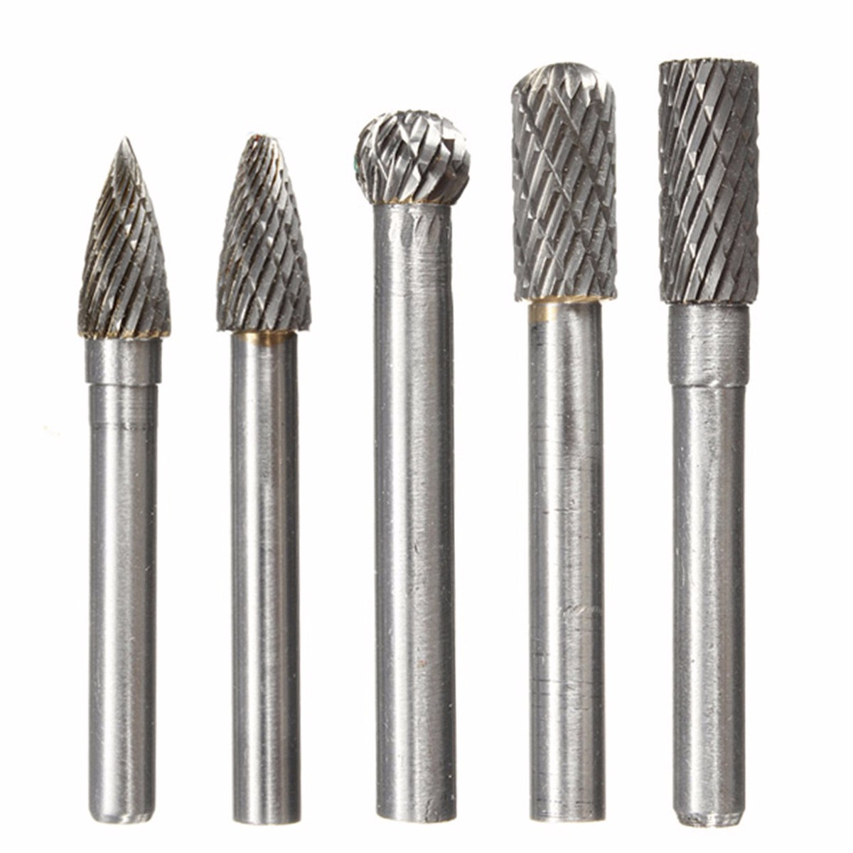 Type A C D F G 6*8MM Head Tungsten Carbide Rotary Tool Point Burr Die Grinder Abrasive Tools Drill Milling Carving Bit Tools