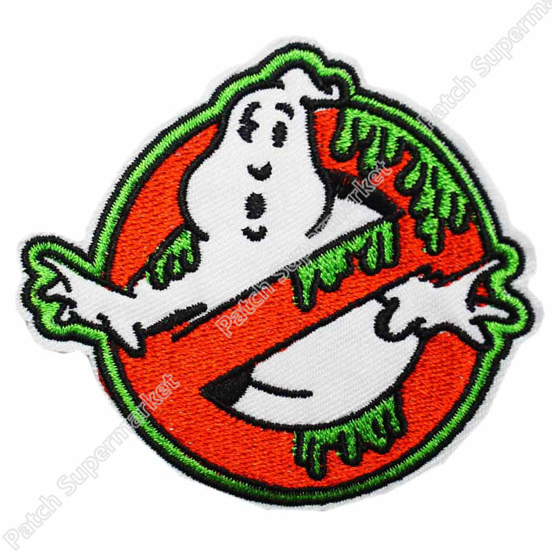 Ghostbuster Green Slime Ghost Emblem biker retro emo punk rockabilly applique sew on iron on patch