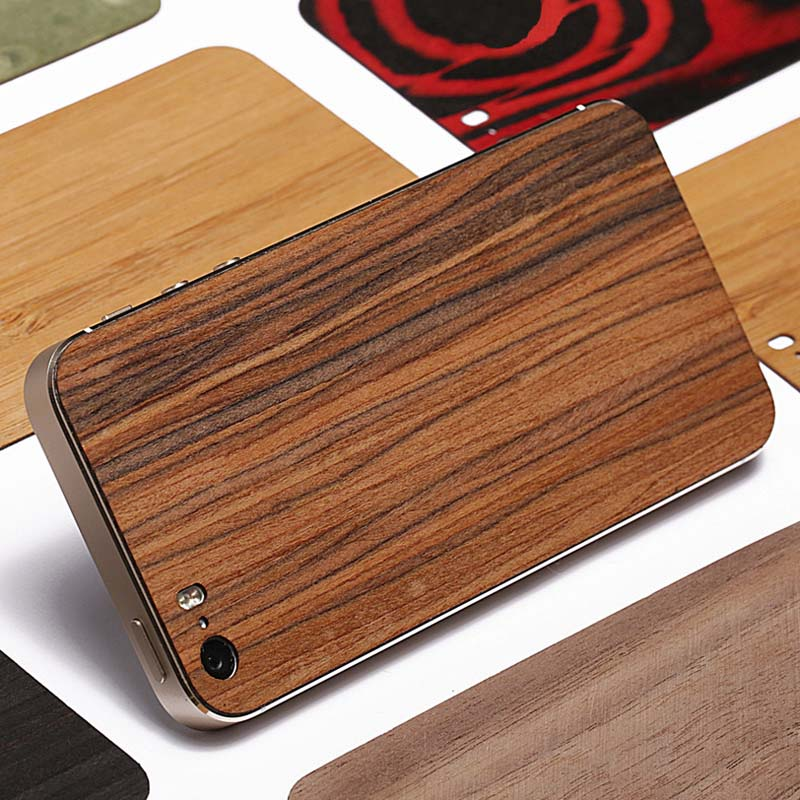 Wood Case For iPhone 5 5S Real Wooden Phone Back Cover Sticker Case For iPhone 5 5S Back Cover Coque Funda Sticker