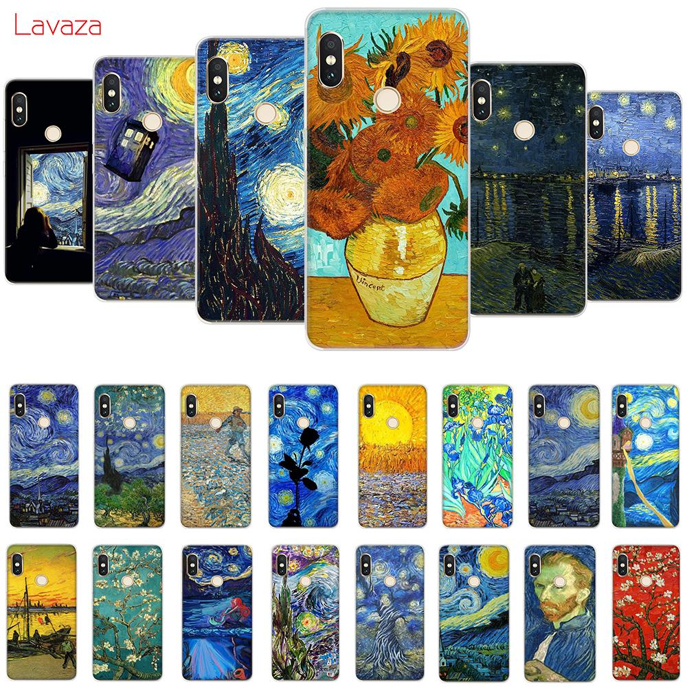 Lavaza Van Gogh Starry Sky Flower Soft Case For Galaxy Note 8 9 S7 Edge S8 S9 S10 Plus S10e M10 20 30 Cover Cellphones & Telecommunications Fitted Cases