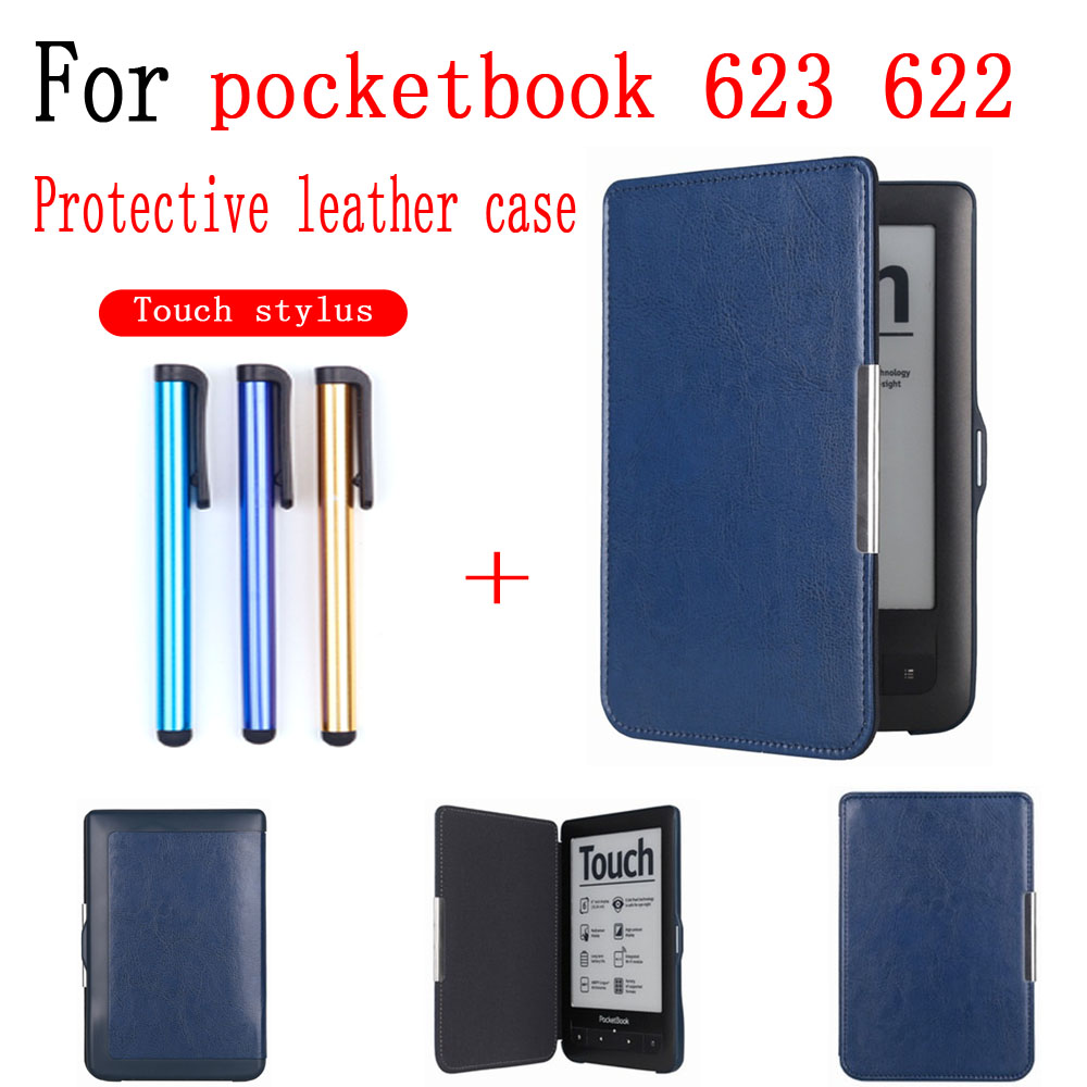 Schutz Abdeckung Fall Für Pocketbook 623 622 <font><b>Tablet</b></font> Pocketbook eBook Wasserdichte Fall Nicht-slip Shell Haut Touch screen stylus image