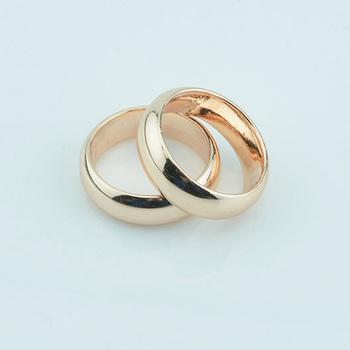 FJ hurtownie 2 sztuk 6mm kobiety mężczyźni para pierścionki biżuteria 585 różowe złoto kolor bez kamieni pierścionki zaręczynowe duży różowy żółty rozmiar tanie i dobre opinie Moda TRENDY Ustawienie kanału Zaręczyny Miedzi Metal unJZ0031 Zakochanych Zespoły weselne Okrągły Well-packed in OPP bag+Pouches