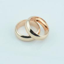 FJ hurtownie 2 sztuk 6mm kobiety mężczyźni para pierścionki biżuteria 585 różowe złoto kolor bez kamieni pierścionki zaręczynowe duży różowy żółty rozmiar tanie tanio Moda TRENDY Ustawienie kanału Zaręczyny Miedzi Metal unJZ0031 Zakochanych Zespoły weselne Okrągły Well-packed in OPP bag+Pouches