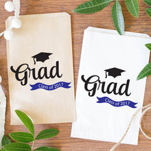 customize Graduation class of 2017 2018 popcorn candy Buffet lolly bags back to school Bakery Cookie donut gift Favors pouches(China)