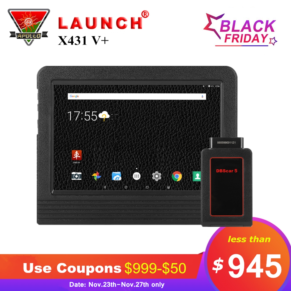 Lancio X431 V + V Più di 10.1 pollice Auto Strumenti di Diagnostica Completa del Sistema OBD2 Bluetooth Wifi Auto Scanner 2 Anno aggiornamento gratuito X431 Pro3