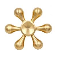 Gold Fidget Spinner Finger Spinner Hand Spinner Brass Spiner Anti Relieve Stress Toys Top Handspinner EDC for Children Kids Gift