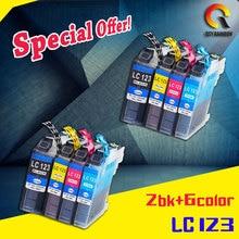 8 шт. совместимый картридж Brother LC123 LC121 для MFC-J870DW MFC-J650DW MFC-J425 MFC-J6720DW MFC-J6520DW DCP-J4110DW DCP-J13