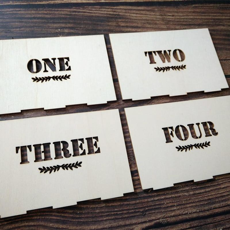 Isikupärastatud puidust laua numbrid koos hoidja alusega pulmade - Pühad ja peod - Foto 3