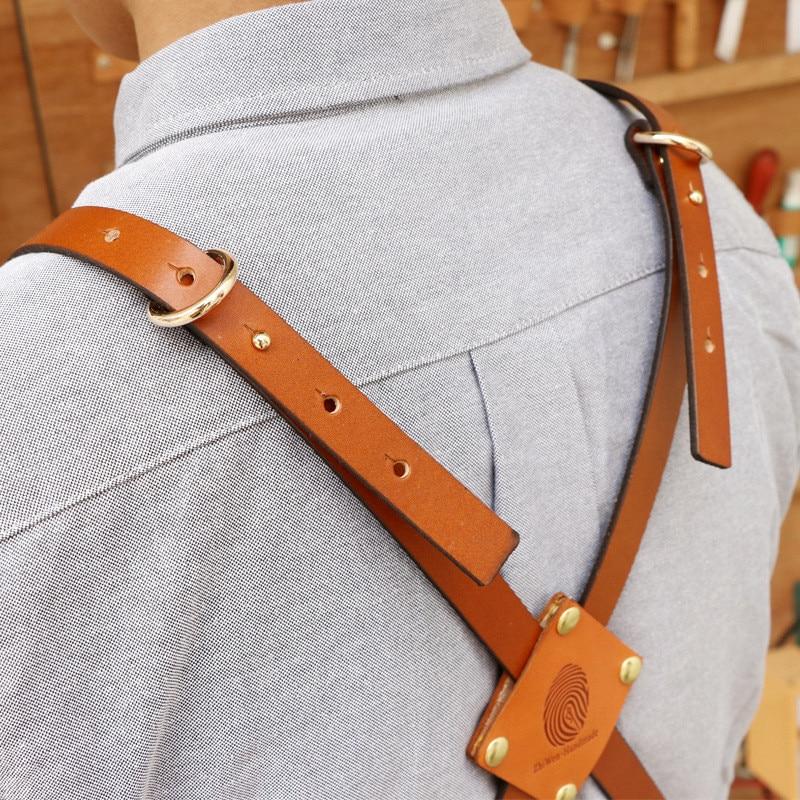 Denim Küche Kochen Schürze mit Einstellbare Baumwolle Band Große Taschen Blau Barista Männer und Frauen Homewear - 3