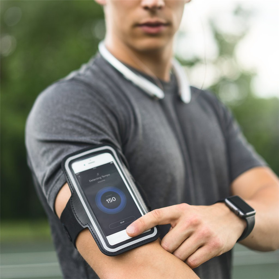 Water Resistant Gym Sports Fitness Running Armband Hiking Phone Case Holder Cover for iPhone X 8 7 6 For Galaxy S9 Plus Note 8
