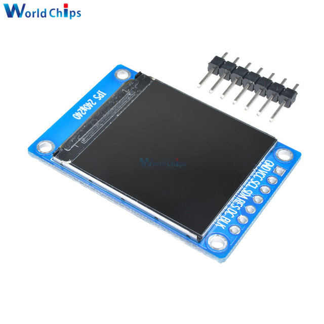 1.3 inch IPS HD TFT ST7789 Drive IC 240*240 SPI Communication 3.3V Voltage 4-Wire SPI Interface Full Color LCD OLED Display DIY 5