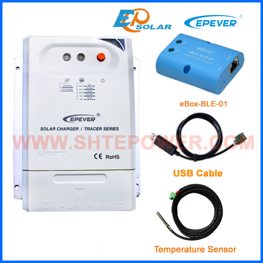bluetooth function box and USB cable comunication 20A 24V battery charger solar controller Tracer2210CN EPEVER/EPsolarbluetooth function box and USB cable comunication 20A 24V battery charger solar controller Tracer2210CN EPEVER/EPsolar