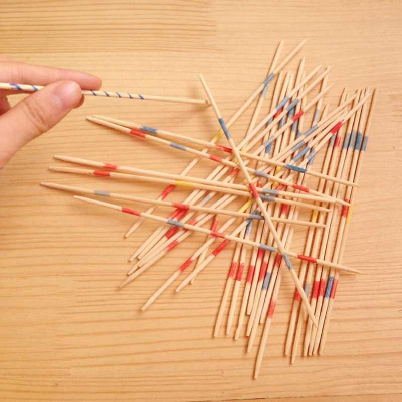 Traditionellen Mikado Spiel Holz Pick Up Sticks Set Traditionellen Spiel Mit Box Spielzeug