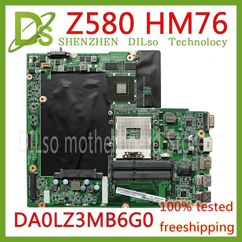 цена на KEFU Z580 mainboard For Lenovo Z580 HM76 USB3.0 DALZ3AMB8E0 GT630M 2G laptop motherboard USB3.0 Test work 100% original