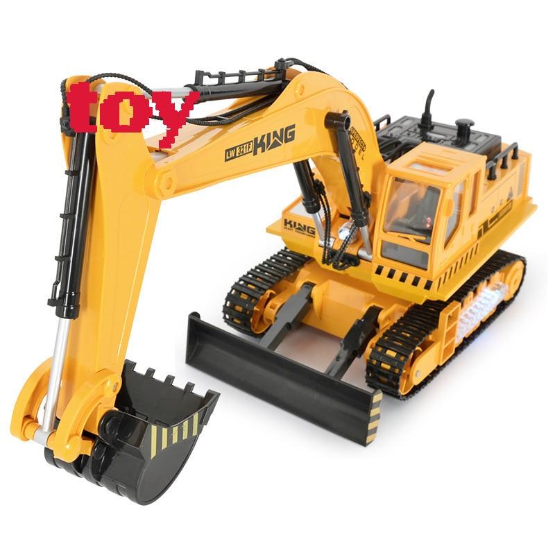 Здесь можно купить  recommended Engineering Excavating Machinery Tuba Charge An Excavator Remote Control Childrens Toys Vehicle without original box  Игрушки и Хобби