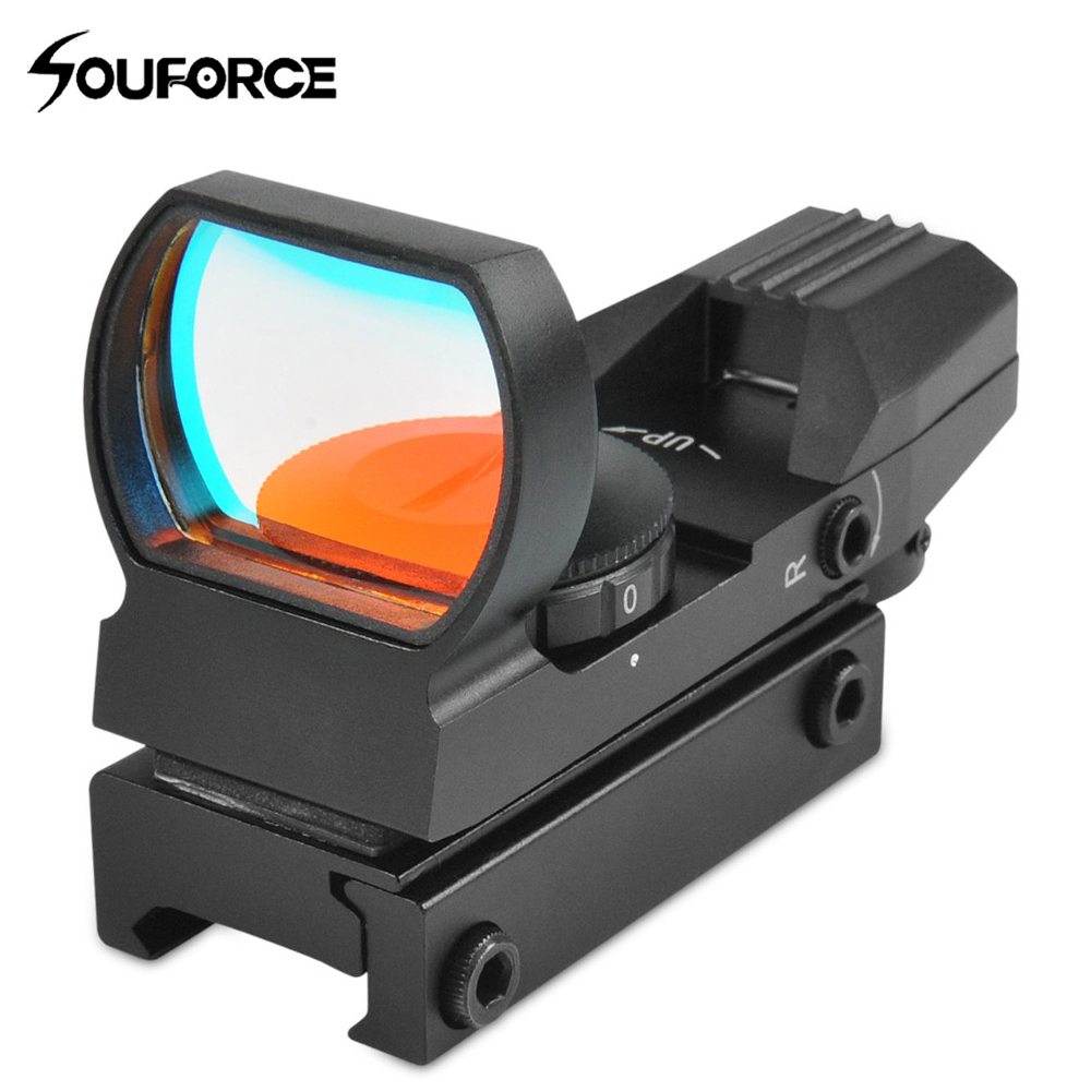 Tactical Holographic Laser Sight Scope 33mm Reflex 4 Red Dot Reticle Fit On Standard Weaver Or Picatinny Style Rail