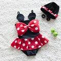 2016 verano maillot de bain babyfille bebé niñas trajes de baño lindo de dibujos animados hello kitty niños traje de baño bikini traje de baño tankini