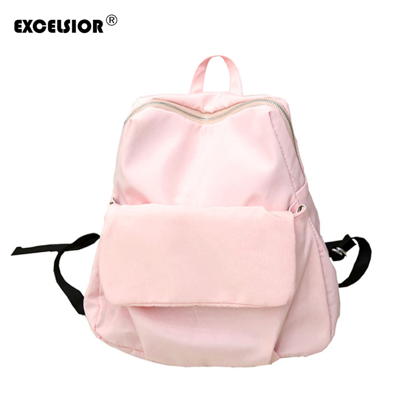 EXCELSIOR 2018 Hot Sale New Brand Design Fashion Canvas Women Backpack Casual Travel Bags Preppy Style School Bags G1321 huifengazurrcs hot sale 2017 new school