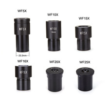 New microscope  Eyepiece wide field  WF5X  WF10X  WF15X WF16X WF20X Eyepiece for Compound microscope 23.2 mm Free Shipping microscope super widefield wf15x eyepiece with reticle 30mm tube