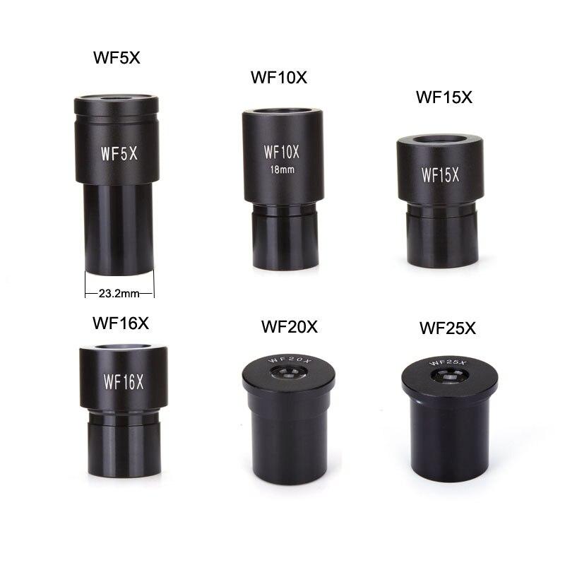 Oculaire de Microscope biologique WF5X WF10X WF15X WF16X WF20X WF25X accessoires de lentille de Microscope lentille grand Angle oculaires monoculaires