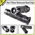 "Pair 1"" 25mm Motorcycle Handle Bar Hand Grips for Harley Honda Yamaha Suzuki Kawasaki"