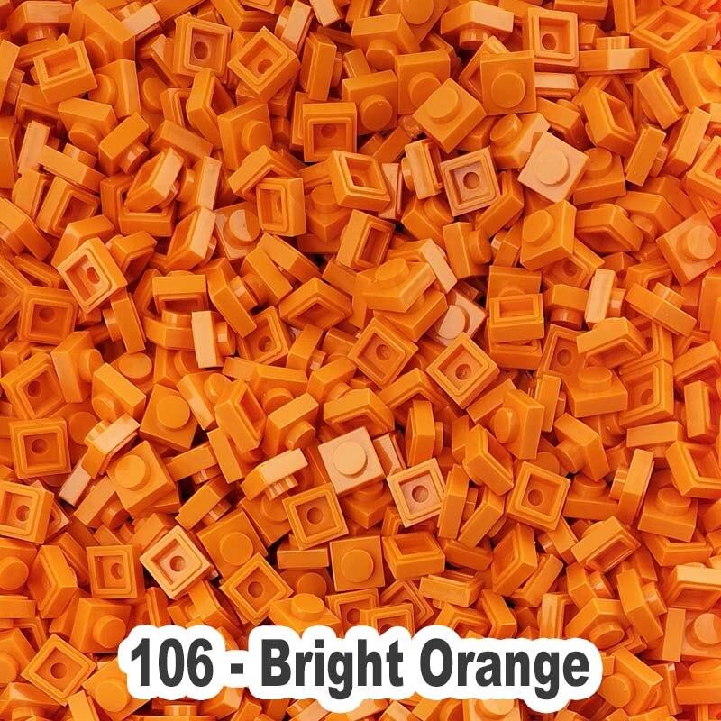 Lego 4 Bright Light Orange 2x2 Finishing Tile NEW
