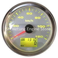 1pc New Style 0 120km/h GPS Speedometer Gauges 85mm Lcd Waterproof Speed Odometers with Trip Gauge Cog Function for Auto Bus