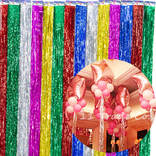 New 100cm Balloon Ribbon Gold Silver DIY Gifts Foil Balloons