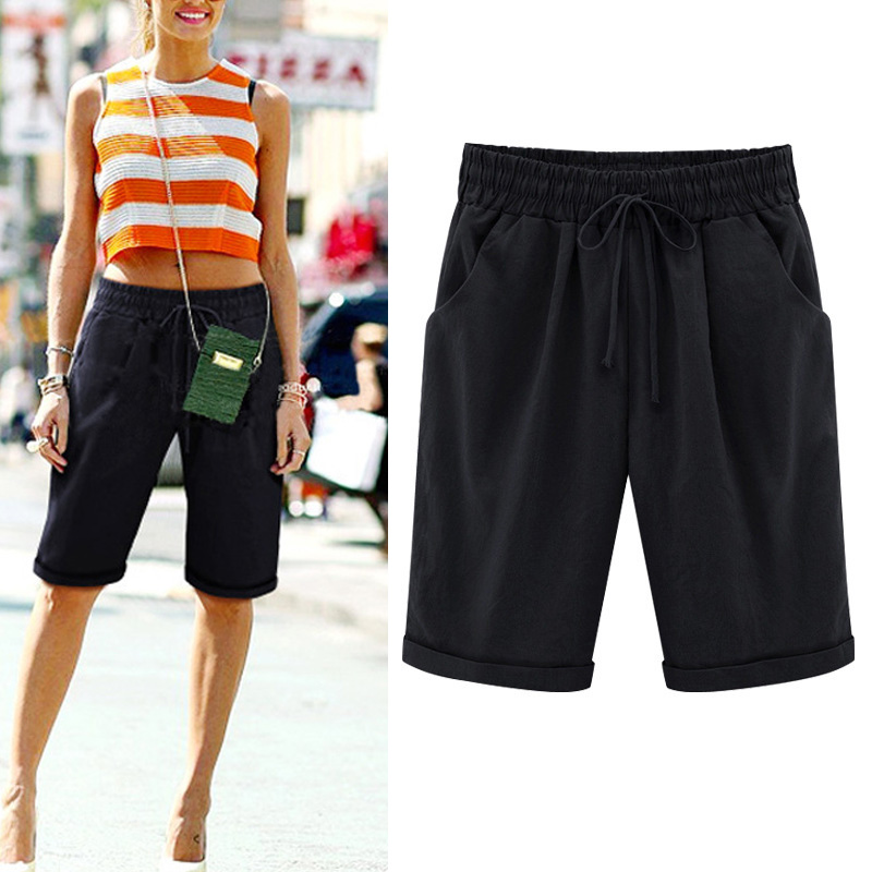 Summer Women   Shorts   Lace up Comfortable Elastic Waistband Loose Casual Panties NYZ Shop