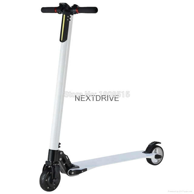 Carbon Fiber Electric Scooter Next Drive Foldable With S Amsung 24v 7 8ah Battery Charger Lightest