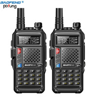 2pcs 2018 BAOFENG BF UVB3 PLUS 8W High Power UHF/VHF Dual Band 10KM Long Range Walkie Talkie 3800mAh Battery Handheld Radio