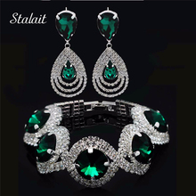 Austrian bridal rhinestone sets pendant wedding earrings bracelet crystal vintage accessories