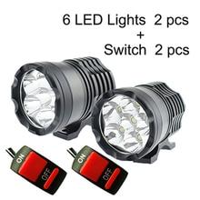 2Pcs Motorcycle LED Headlight LED Motorbike Spotlight Headlamp Motor Spot Head Lights 12V 60W 6000K U2