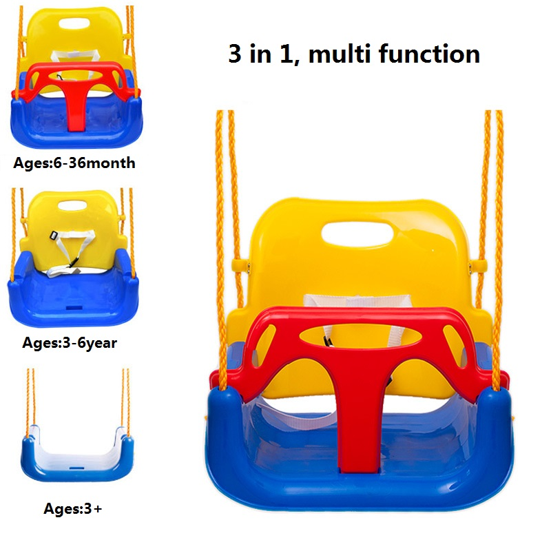 Baby Plastic Secure High Back Swing Seat Indoor Outdoor Kids Chair Toys Gift for Children game tools for kindergarten