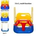 Bebê Seguro de Plástico Crianças Cadeira de Encosto Alto Assento Do Balanço Ao Ar Livre Indoor Brinquedos Presente para As Crianças jogo de ferramentas para jardim de infância