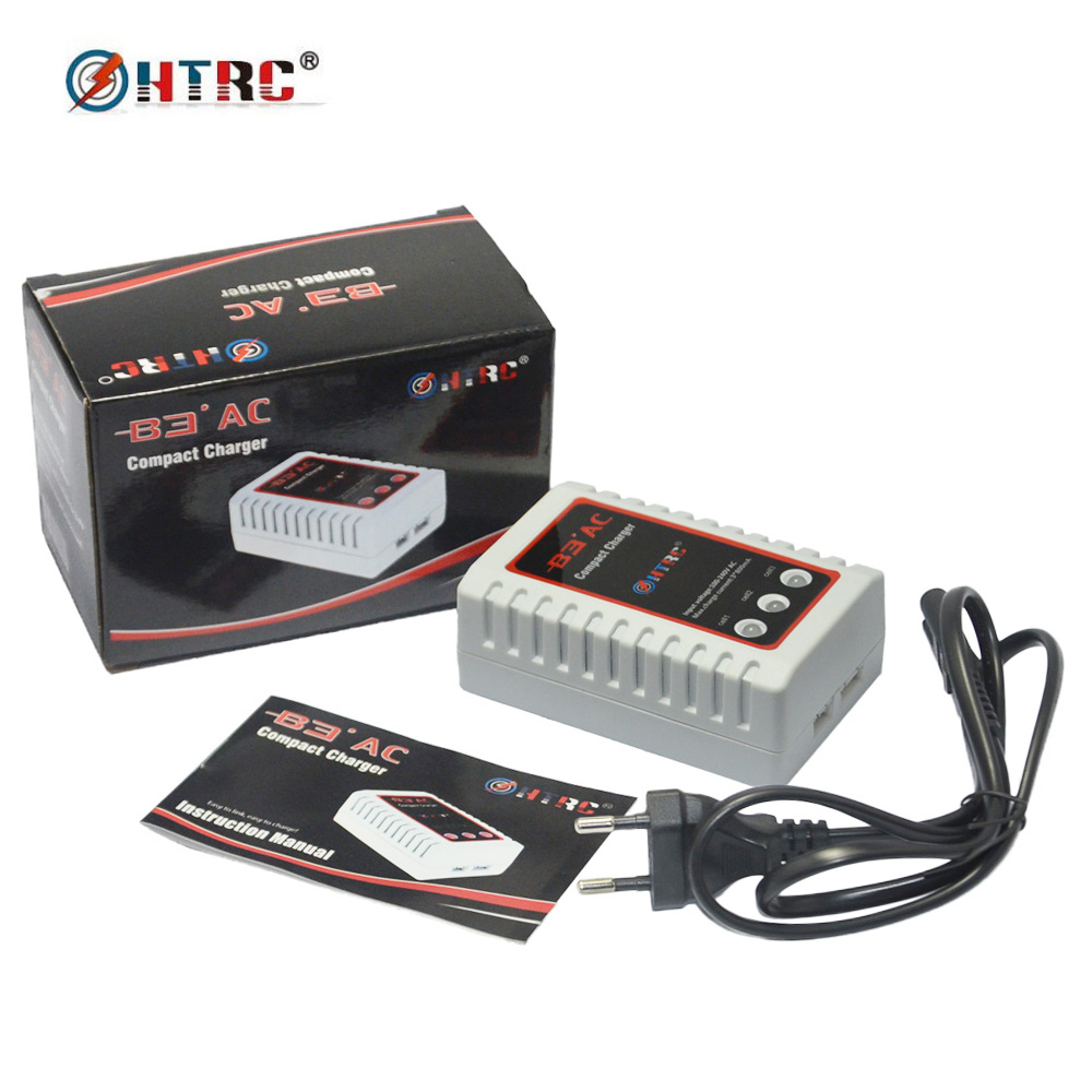 HTRC B3 AC 20W Compact Balance Charger B3 Pro for 2S-3S Lipo Battery 2s 3s lipo battery ac 20w compact balance charger b3 pro htrc b3